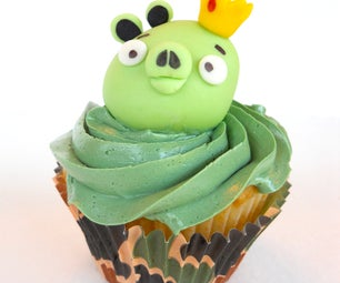 Edible Angry Birds King Pig Topper