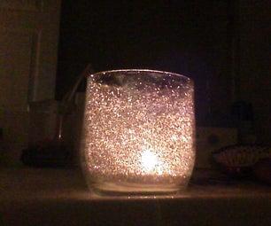 Glitter Candle Jar DIY