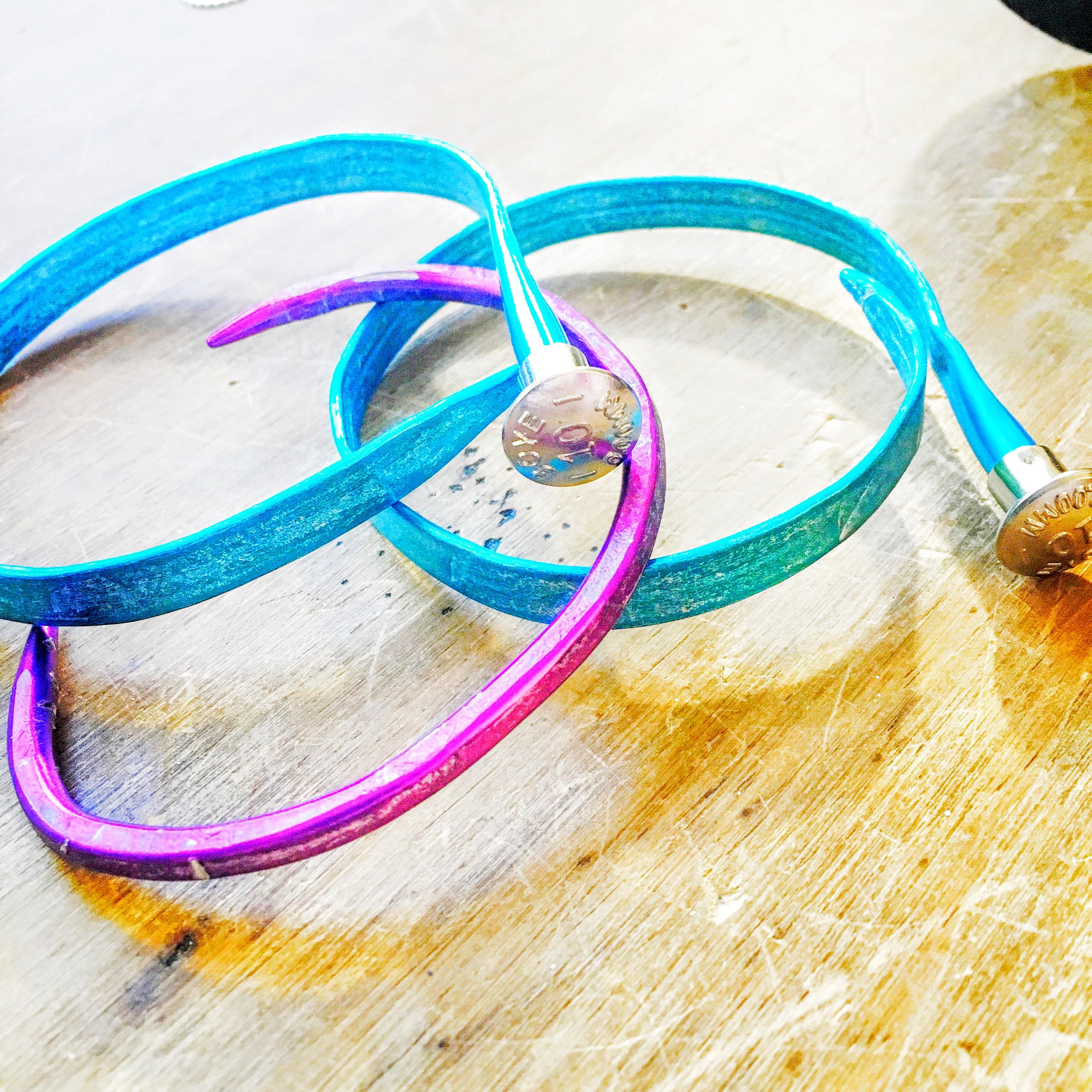 Knitting Needle Bracelets