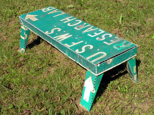 Road Sign Coffee Table