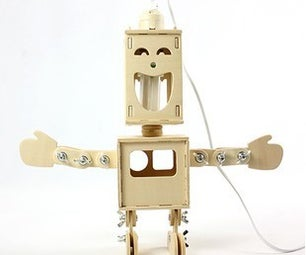 The DIY Two-sided Boy Robot Desk Lamp