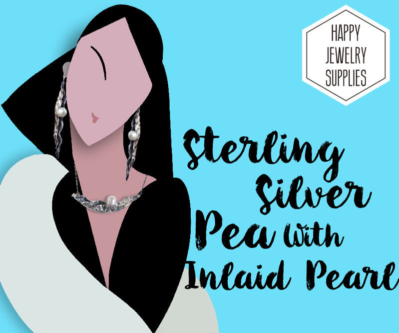 DIY Tutorial-How to Made the 925 Sterling Silver Pea With Inlaid Pearl