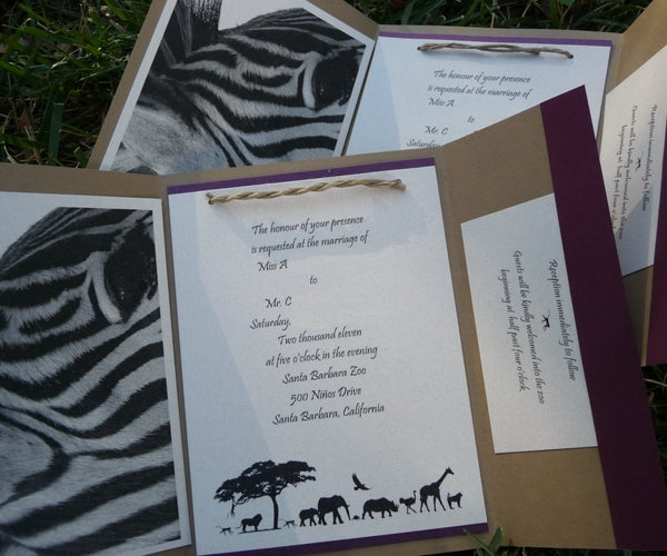Fancy Wedding Invitations on the (relatively) Cheap.