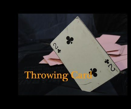 How to Make a Bladed Throwing Card