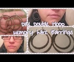 DIY Double Hoop Memory Wire Earrings