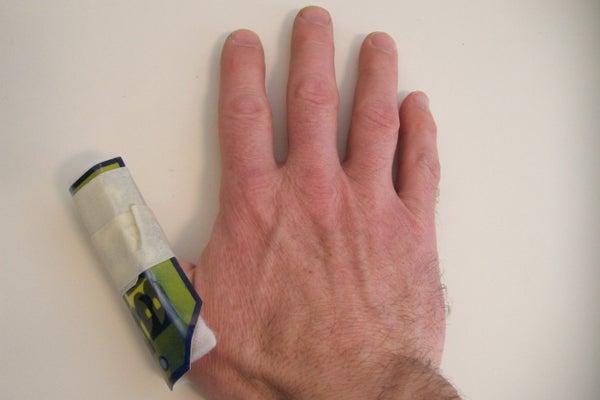 Impromptu Finger Splint