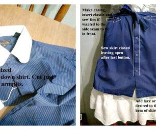 Men's Shirt to Skirt. Easy!