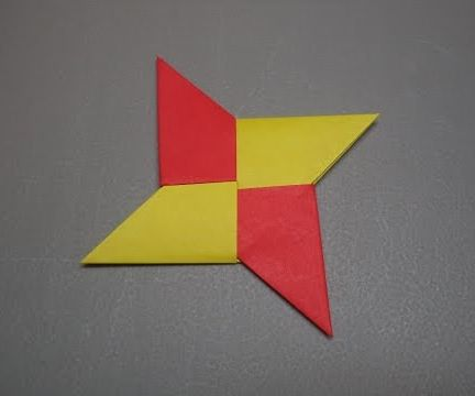 How to Fold an Origami Ninja Star / Shuriken