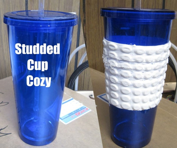 Studded Cup Cozy : Flexible 3d Printed Studded Belt for My Cup