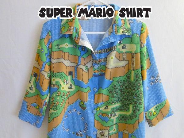 Super Mario Button Up Shirt