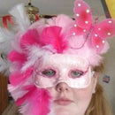 DIY Masquerade Mask Pink Butterfly