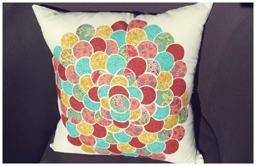 No-Sew Collage Pillow