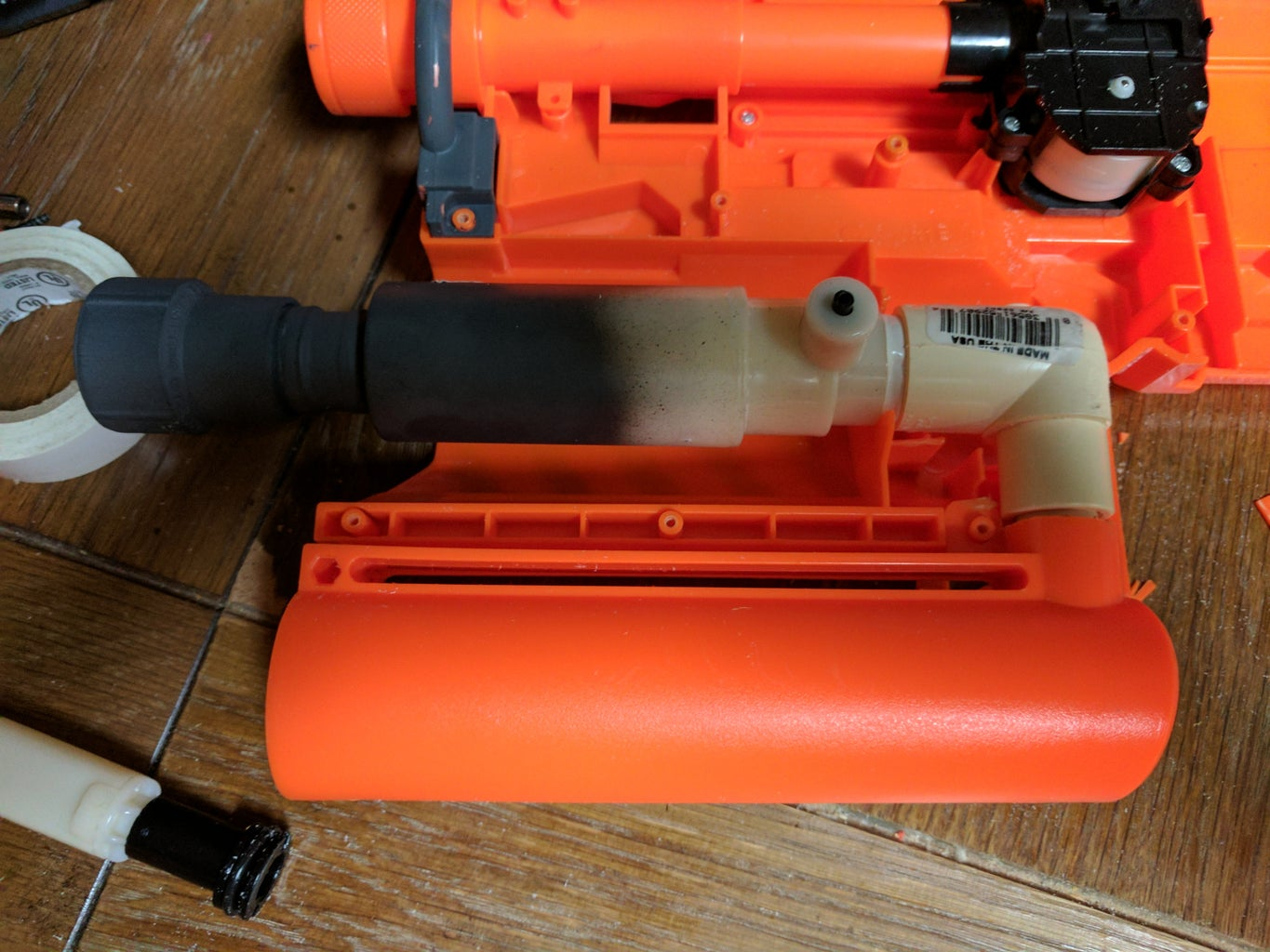 Fit the Assembly Into the Blaster Shell