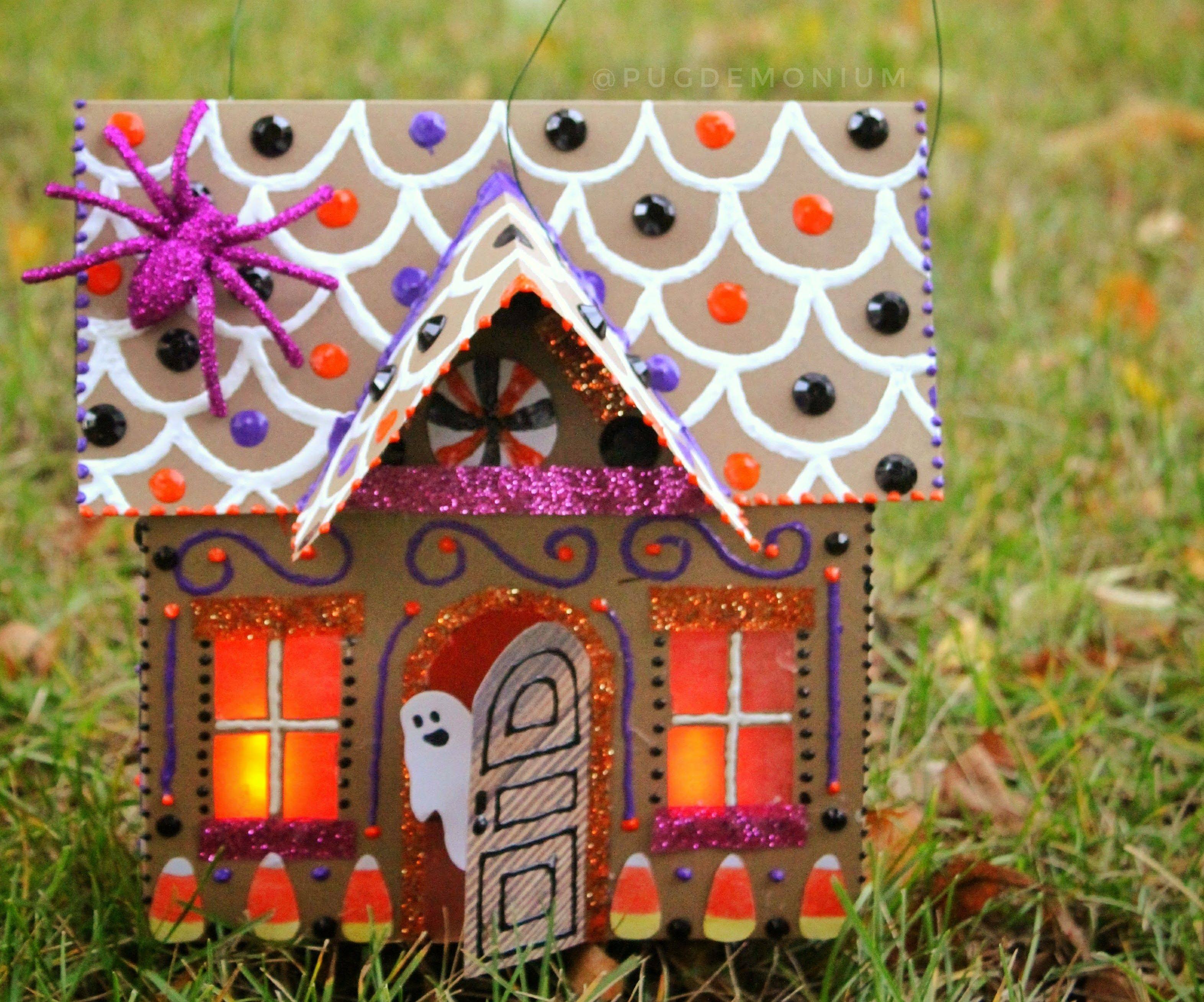 Halloween Paper Gingerbread House