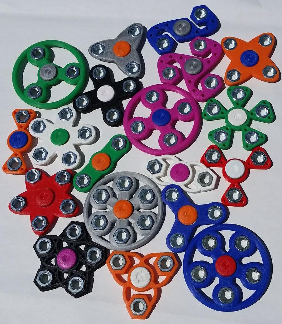 Hex Nut Fidget Spinners