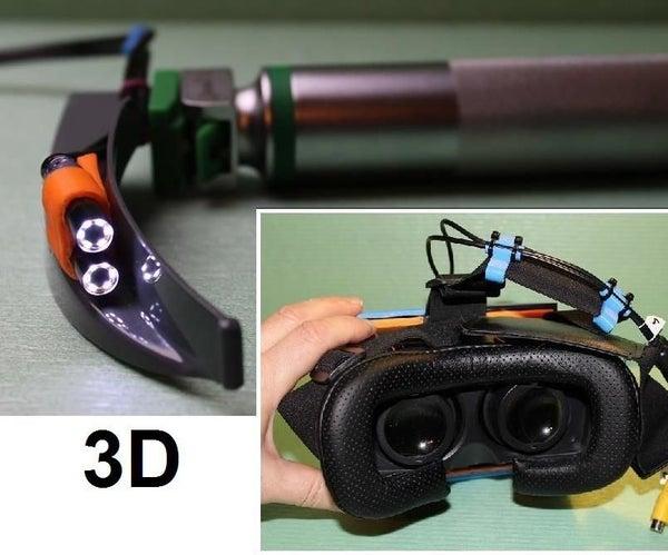3D Video Laryngoscope With VR Headset