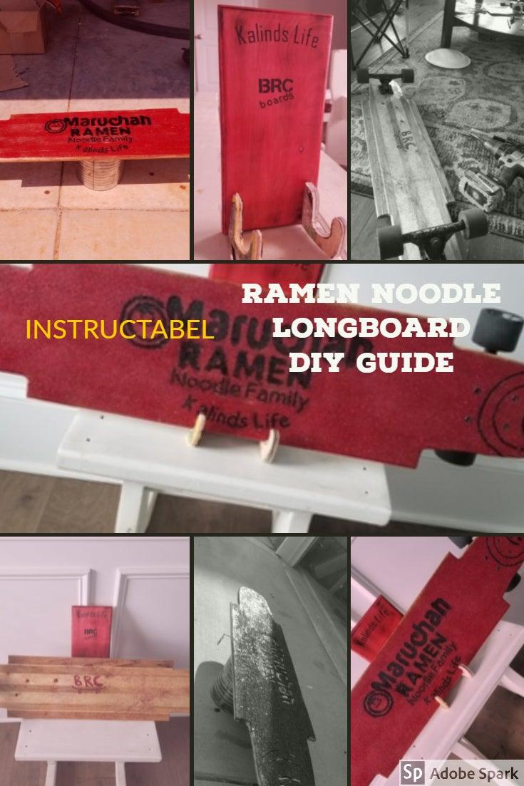 Red Glitter  Ramen Longboard