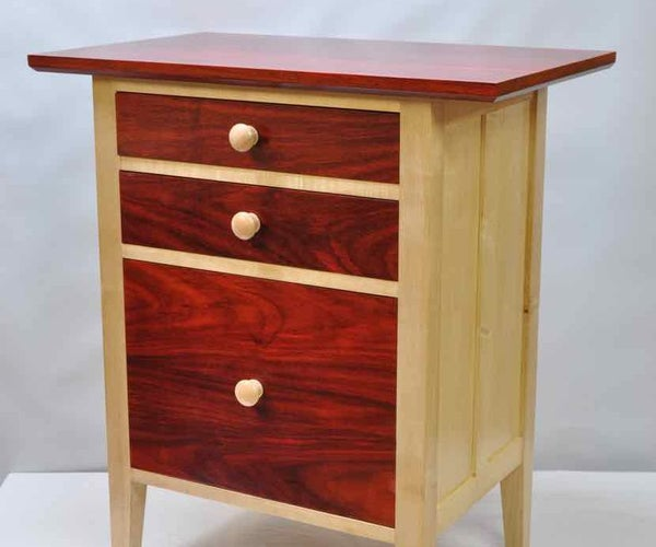 Exotic Red Nightstand - Because Sometimes Ikea Isn't the Answer.
