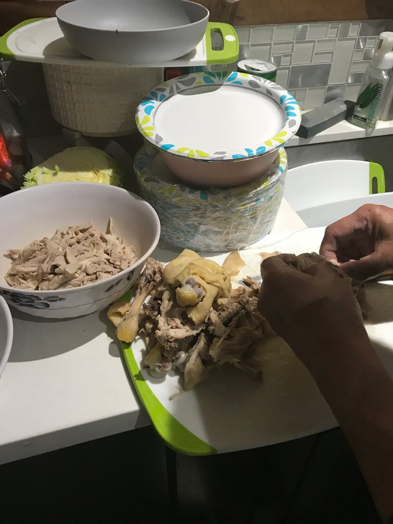 Cut/shred the Chicken