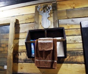 Old Gardener's Toolbox Upcycle – Bathroom Storage and a Towel Bar!