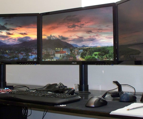 Inexpensive PVC / ABS Monitor Arm