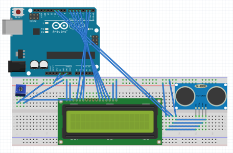 How to Make an Ultrasonic Range Finder Using an LCD and Arduino