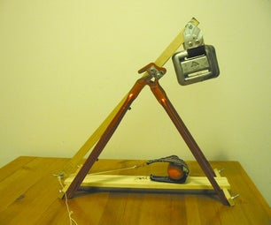 Desktop Trebuchet From Bicycle Frame