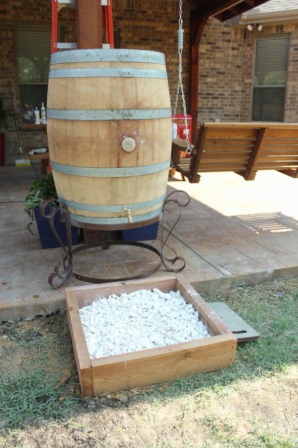 Rustic Rain Barrel