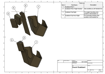 Scabbard Assembly (optional)