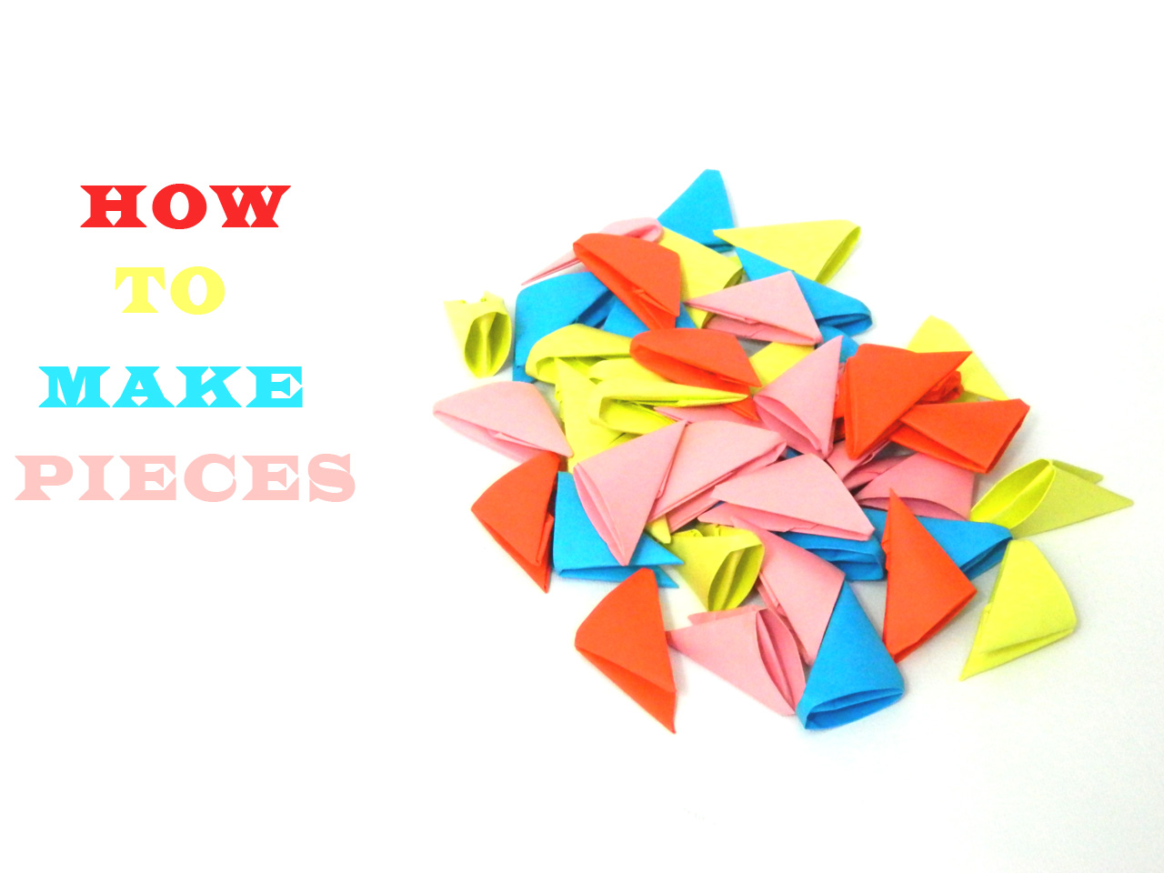 How to make 3D Origami Pieces (HD)