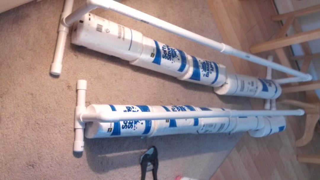 cutting the PVC Pipe