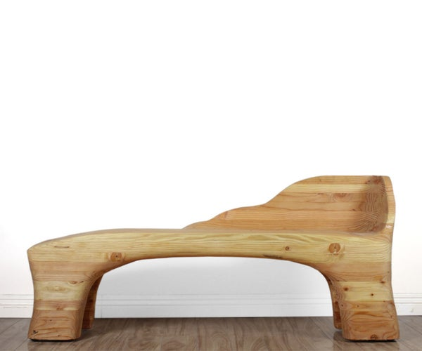 Power-Carved Lounge Bench