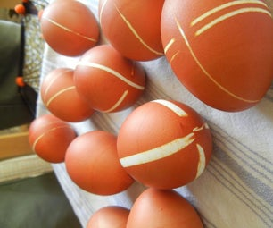Dye Easter Eggs With Rubber Bands and Onion Skins!