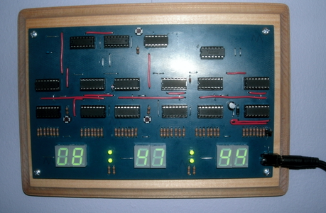 24 Hr Digital Clock Only With Basic CMOS Chips