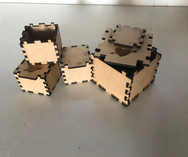 Laser Cut Ring or Wristband Box's for Valentine's Day