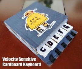 Velocity Sensitive Cardboard Keyboard