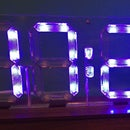 Edge-Lit Seven Segment Clock Display