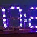Edge-Lit Seven Segment Clock Display
