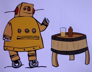 Wine Barrel Beer Table