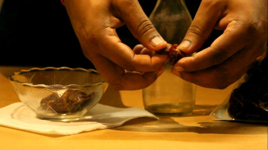 Extracting and Peeling of Seeds.