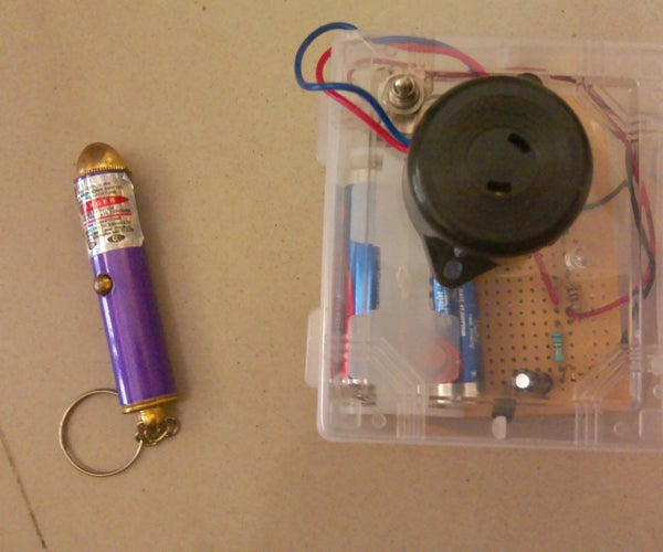 Simple and Portable Laser Tripwire for Under 2$