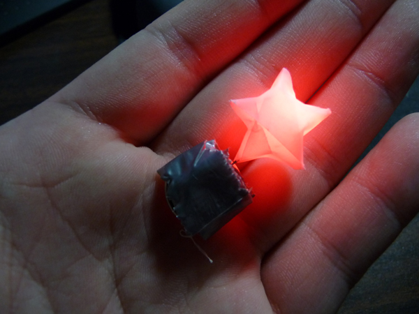 Origami Star LED Throwie