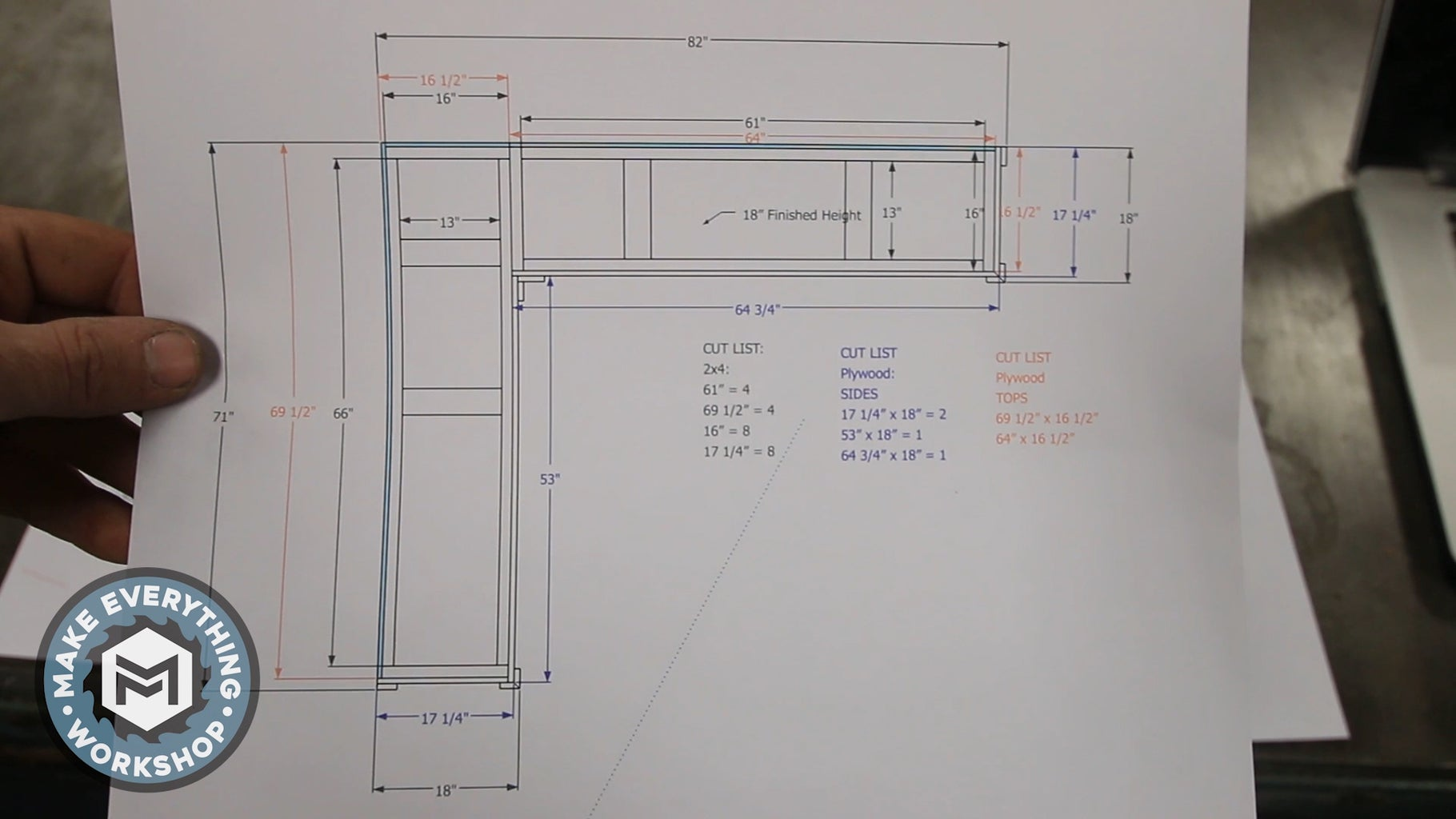 Planning and Cut List