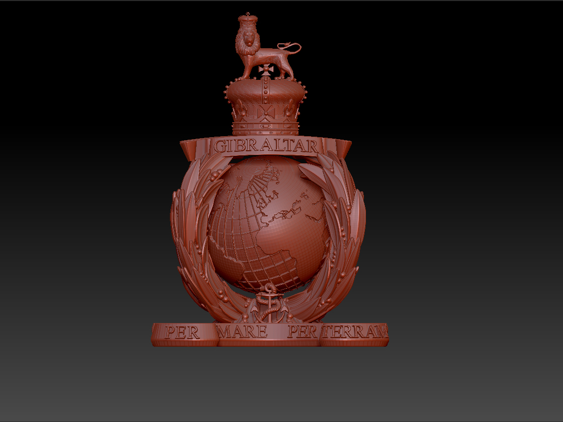 Step by step creation of sculptures using 3d modelling, 3d printing and resin bronze casting