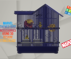 How to Make Marvel Themed Accessories for Birds Using 3D Designing! (TinkerCad)