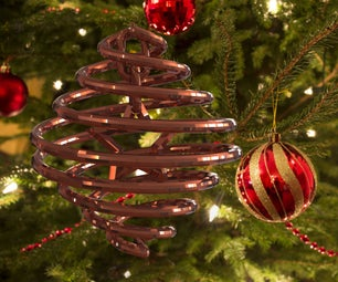 3D Printed Double Helix Christmas Ornament