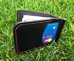 Card Holder / Money Clip From Leather