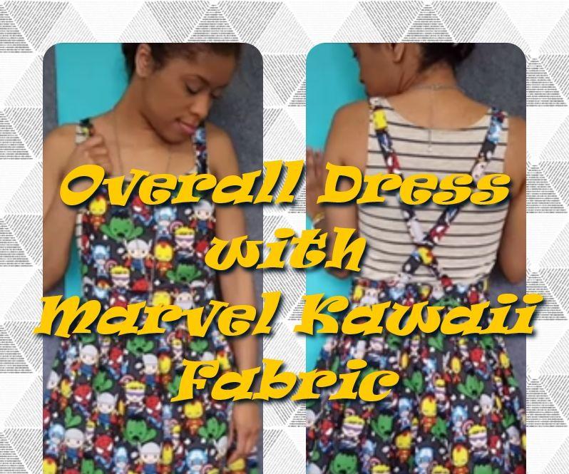 Overall Skirt with Marvel Kawaii Fabric