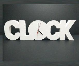 Polystyrene Clock