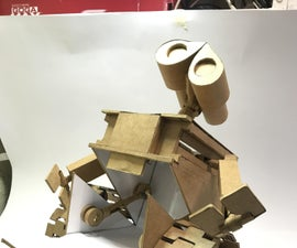 HOW TO MAKE WALL E FROM CARDBOARD